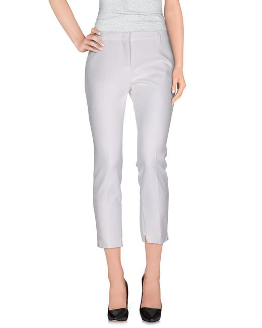 Schumacher - White Casual Pants - Lyst