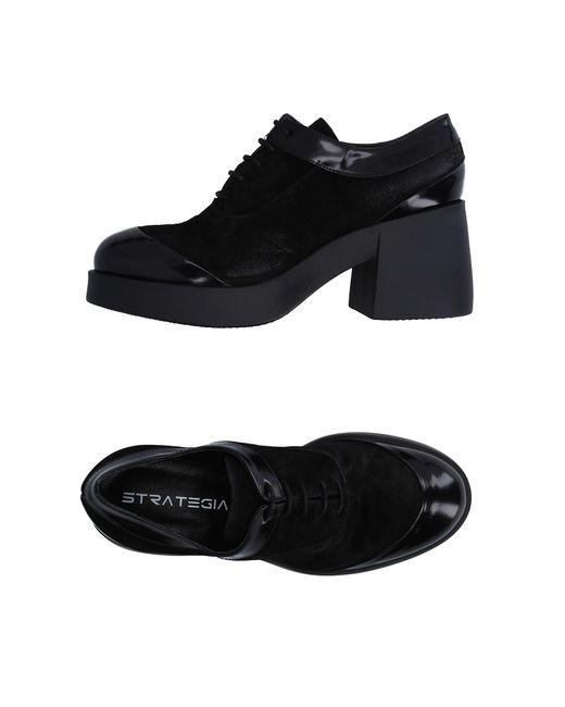Strategia - Black Lace-up Shoe - Lyst