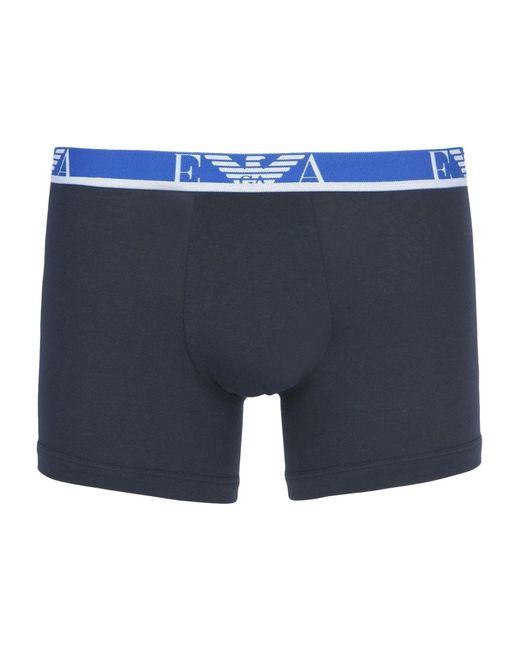 Emporio Armani - Blue Boxer for Men - Lyst