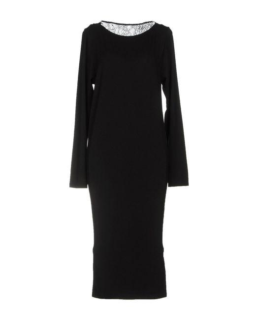 Patrizia Pepe - Black Knee-length Dress - Lyst