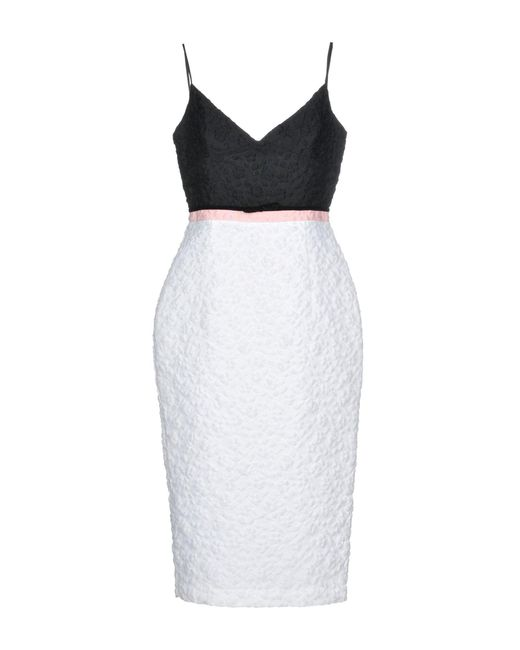 Alex Perry - White 3/4 Length Dress - Lyst