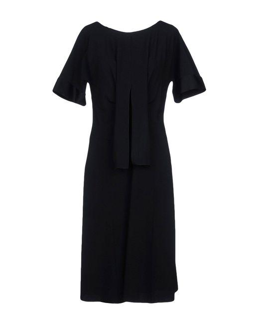 Alberta Ferretti - Black Knee-length Dresses - Lyst