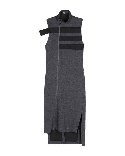 Y-3 - Gray 3-stripes Track Dress - Lyst