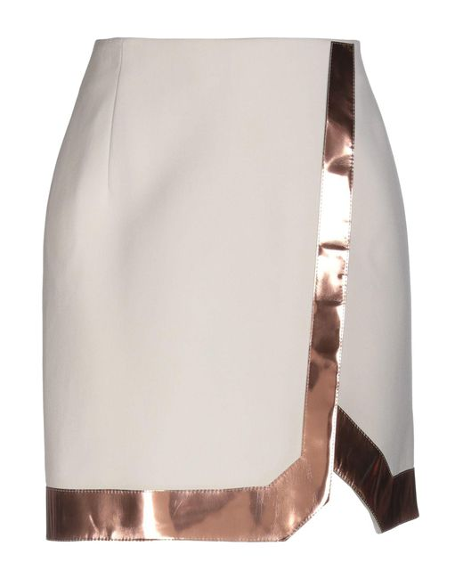 Mugler - White Knee Length Skirt - Lyst