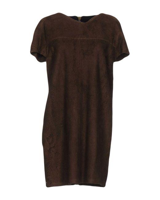 Alviero Martini 1A Classe - Brown Short Dresses - Lyst