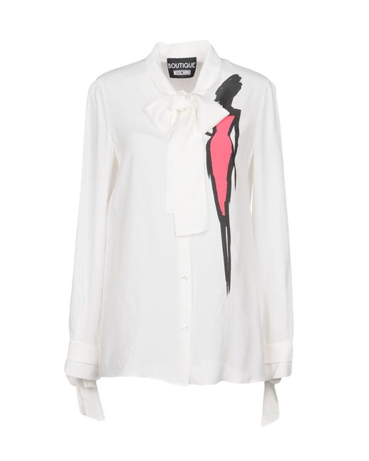 Boutique Moschino - White Shirt - Lyst