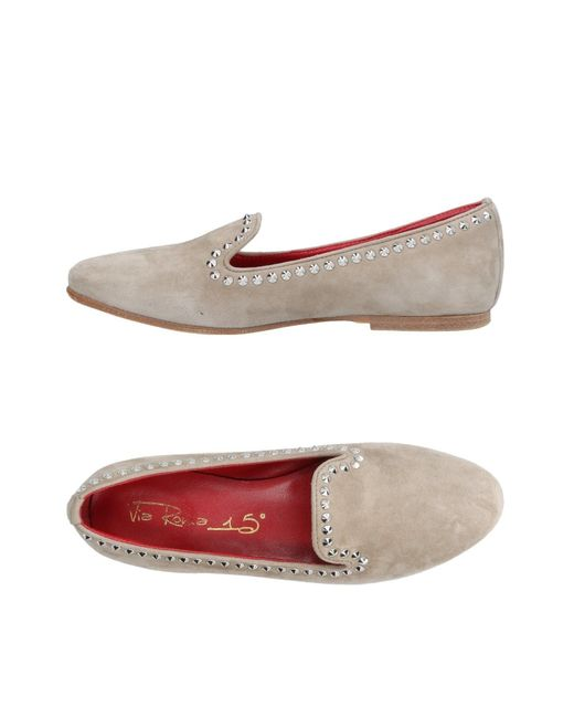 Via Roma 15 - Gray Loafer - Lyst
