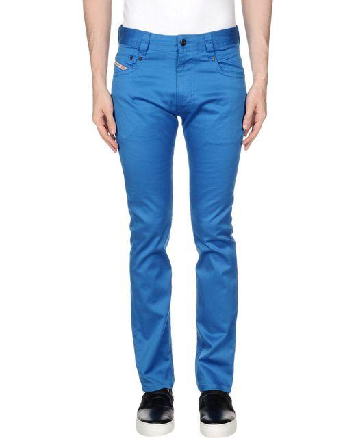 DIESEL - Blue Casual Trouser for Men - Lyst