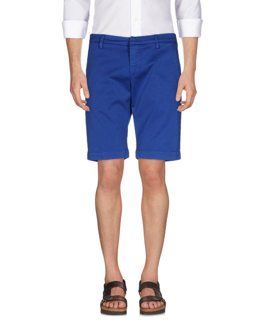 Dondup - Blue Bermuda Shorts for Men - Lyst