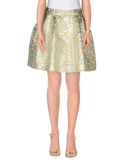 P.A.R.O.S.H. - Green Mini Skirt - Lyst