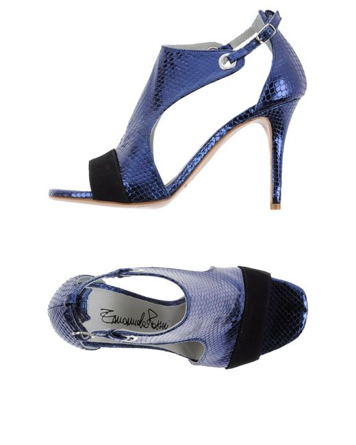 Emanuela Passeri | Blue Sandals | Lyst