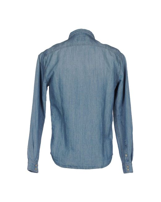 Pepe Jeans - Blue Denim Shirt for Men - Lyst