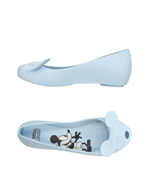 Melissa - Blue Ballet Flats - Lyst