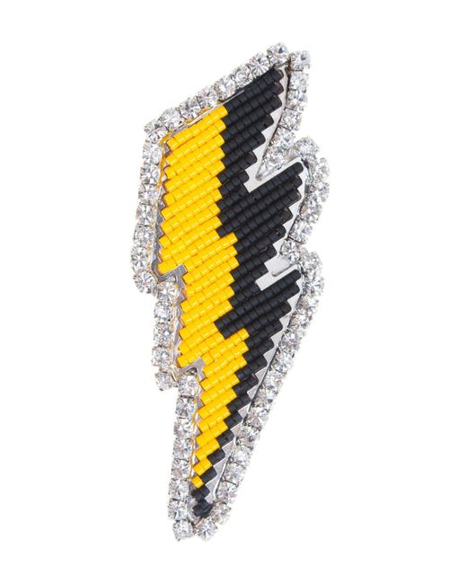 Shourouk - Yellow Brooch - Lyst