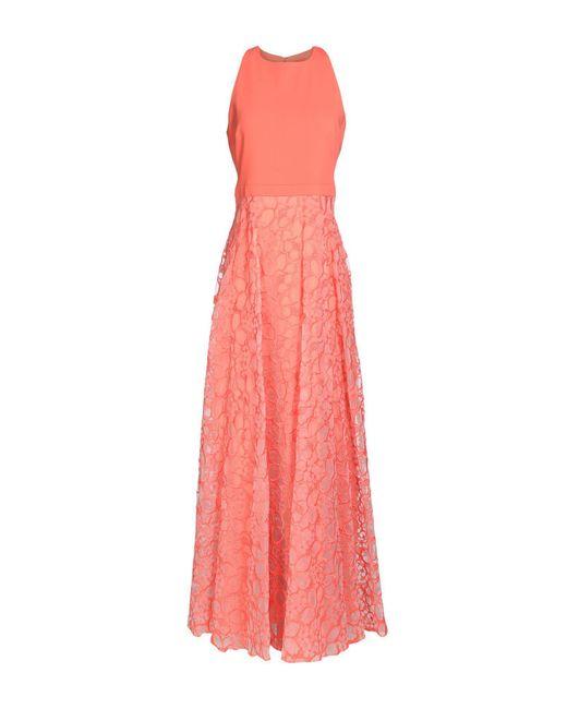 Badgley Mischka Pink Long Dress
