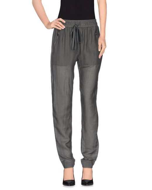Enza Costa | Gray Casual Trouser | Lyst