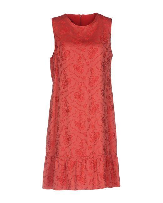 Philosophy Di Lorenzo Serafini - Red Short Dress - Lyst