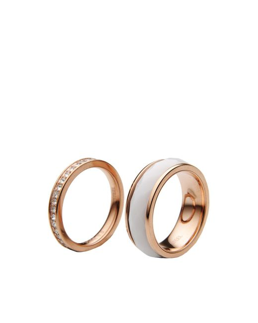 Fossil - Metallic Ring - Lyst
