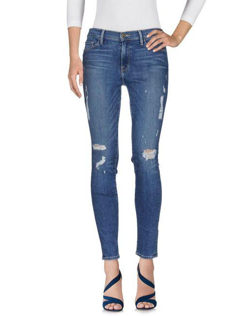FRAME - Blue Jeanshose - Lyst