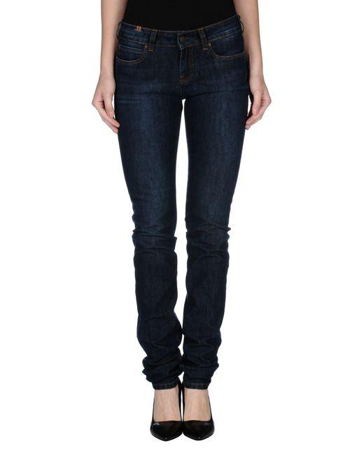 Notify - Blue Denim Trousers - Lyst