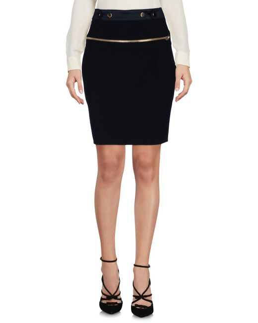 Alexandre Vauthier - Black Knee Length Skirt - Lyst