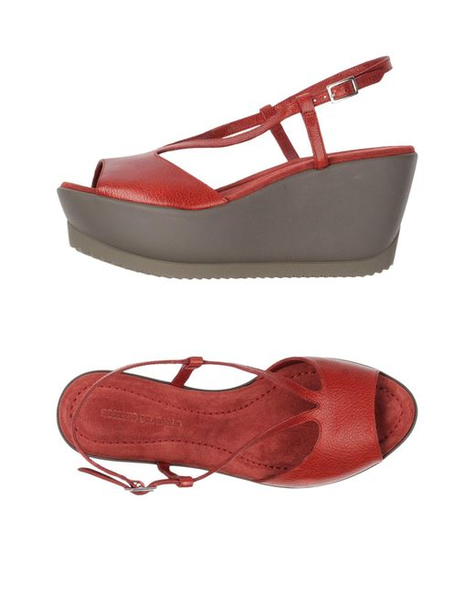 Roberto Del Carlo - Red Sandals - Lyst