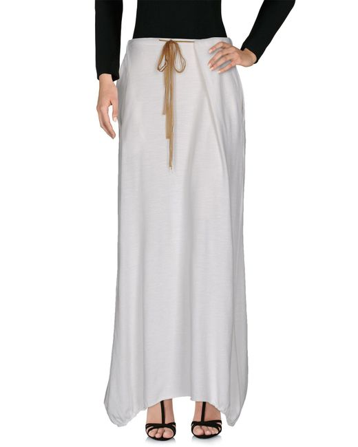 Liis Japan - White Long Skirt - Lyst