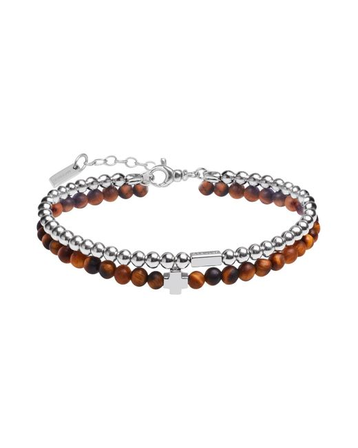 JACK&CO - Brown Bracelet for Men - Lyst