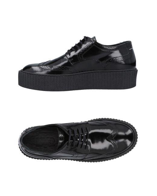 MM6 by Maison Martin Margiela - Black Lace-up Shoe - Lyst