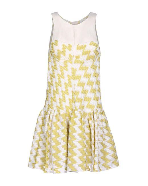 Missoni Yellow Short Dress