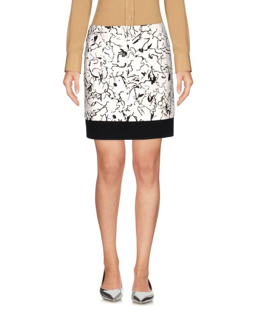 Balenciaga - White Mini Skirt - Lyst