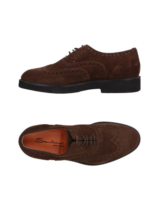Santoni - Brown Lace-up Shoe for Men - Lyst