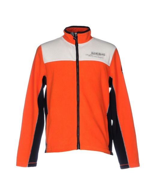 Napapijri - Orange Sweatshirts for Men - Lyst