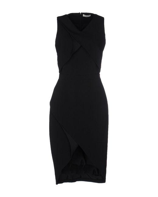 Mugler - Black Crepe Dress - Lyst