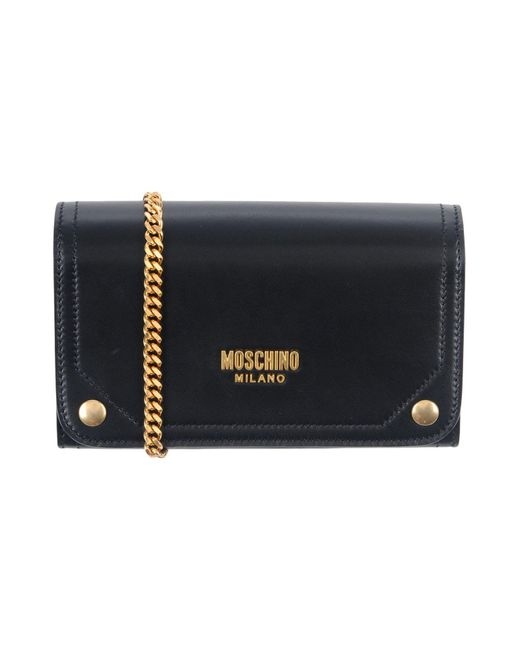Moschino - Black Wallet - Lyst