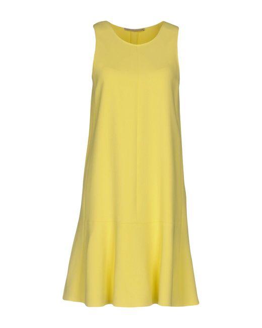 Ermanno Scervino - Yellow Short Dress - Lyst