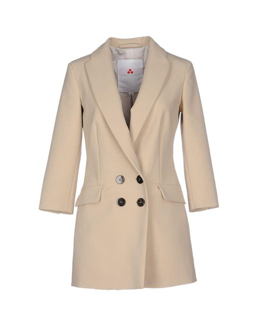Peuterey - Natural Overcoat - Lyst