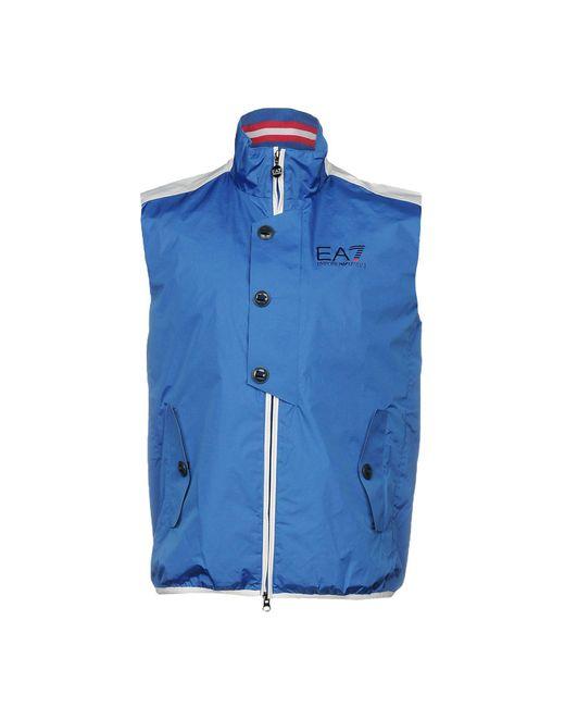 EA7 - Blue Jacket for Men - Lyst