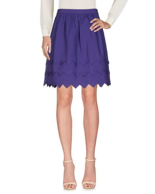 Boutique Moschino Purple Knee Length Skirt