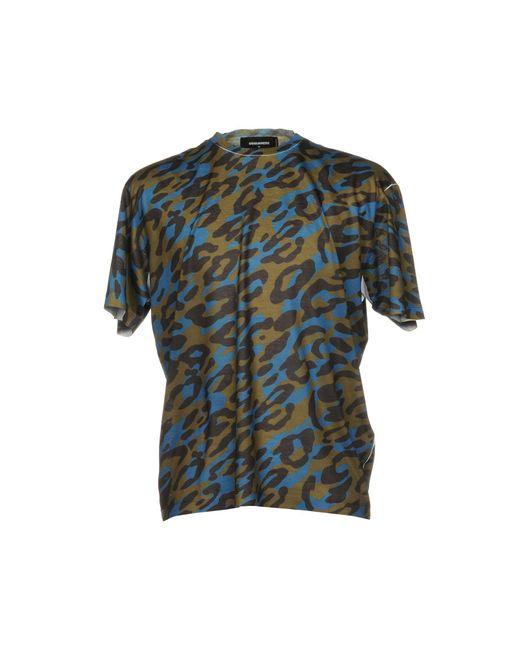 DSquared² - Green T-shirt for Men - Lyst