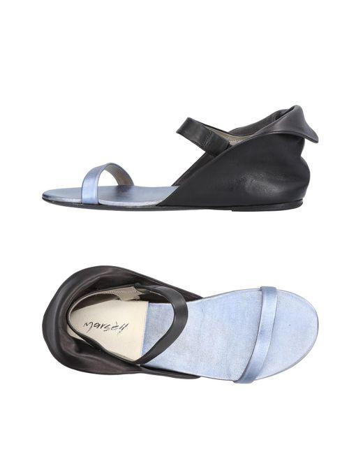 Marsèll - Black Sandals - Lyst