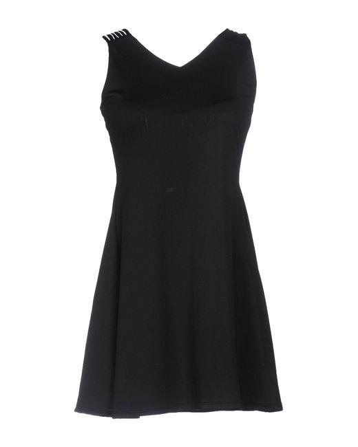 WEILI ZHENG - Black Short Dress - Lyst