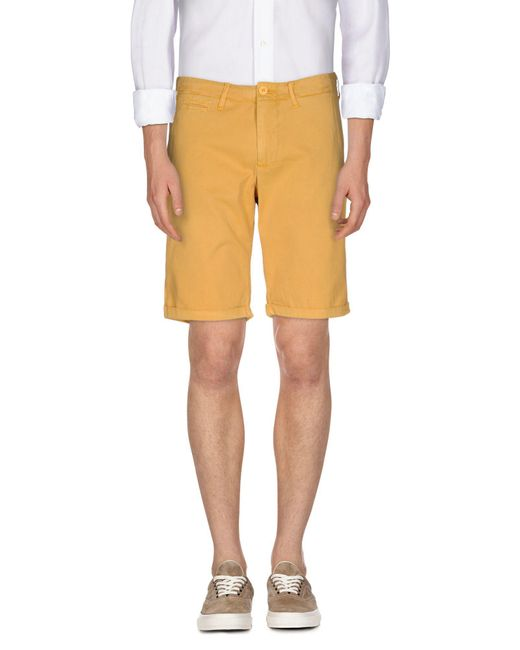 Woolrich - Yellow Bermudas for Men - Lyst