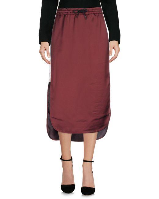 T By Alexander Wang - Purple 3/4 Length Skirt - Lyst