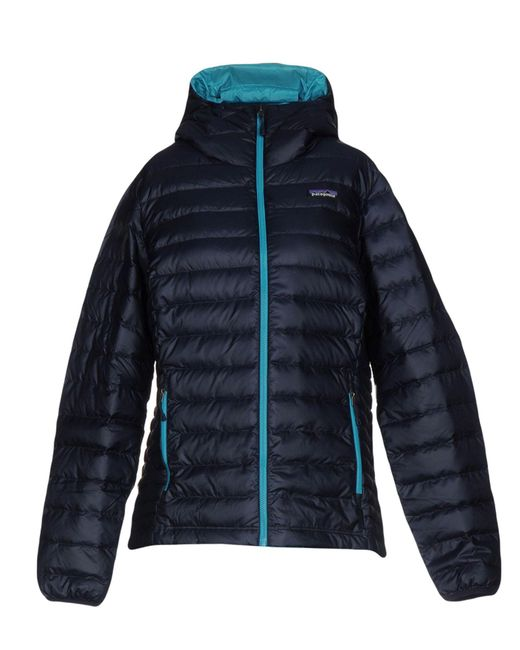 Patagonia - Blue Down Jacket - Lyst