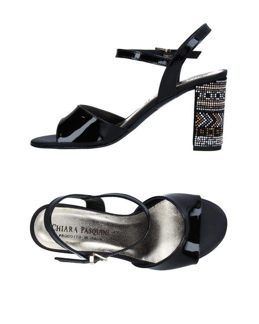 Chiara Pasquini - Black Sandals - Lyst