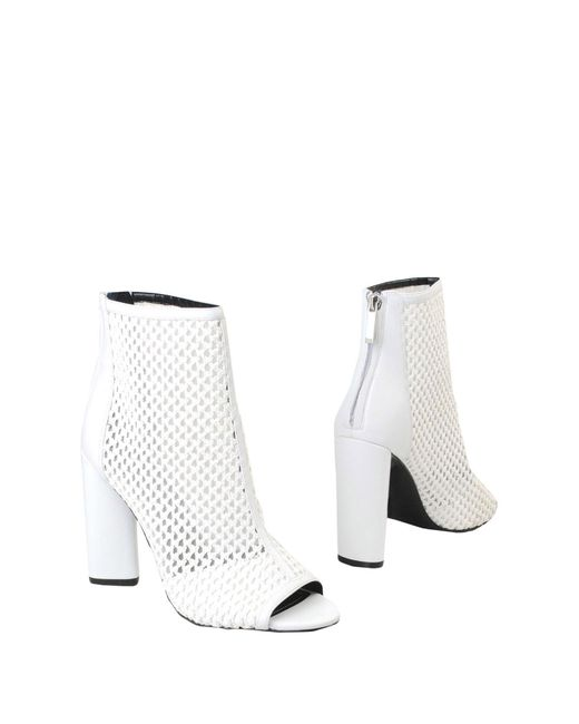 Kendall + Kylie - White Ankle Boots - Lyst