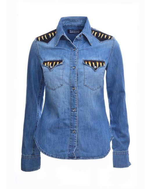 Rockins   Blue Classic Custom Denim Shirt In Medium Indigo   Lyst
