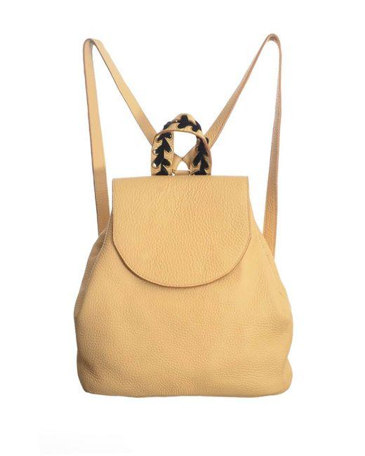 Romy LDN | Natural Noya Backpack In Sand Pebble Leather | Lyst
