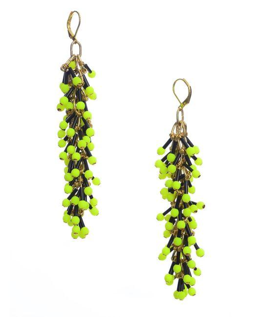 Longshaw Ward - Dangle Earrings In Neon Yellow - Lyst